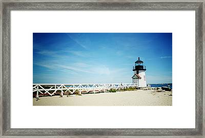 Nantucket's Brant Point Lighthouse Framed Print by Natasha Marco