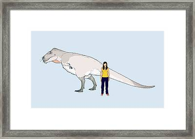 Nanuqsaurus Size Comparison Framed Print by Nemo Ramjet