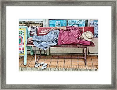 Nap Framed Print by Karen Walzer