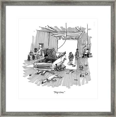 Nap Time Framed Print by George Booth