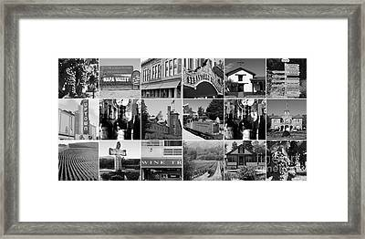 Napa Sonoma County Wine Country 20140906 Black And White Framed Print by Wingsdomain Art and Photography