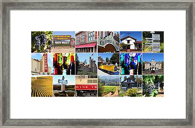 Napa Sonoma County Wine Country 20140906 Framed Print by Wingsdomain Art and Photography
