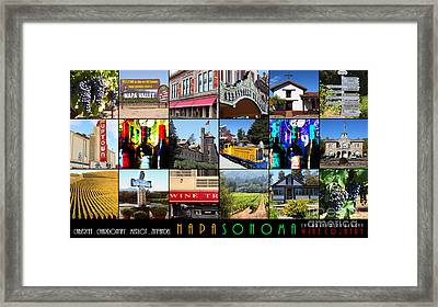 Napa Sonoma County Wine Country 20140906 With Text Framed Print