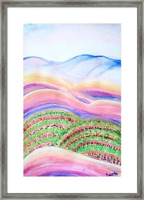 Framed Print featuring the painting Napa Valley by Carol Duarte