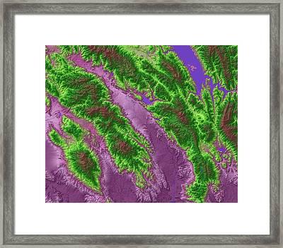 Napa Valley Map Art Framed Print