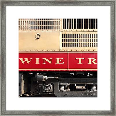 Napa Valley Railroad Wine Train In Napa California Wine Country 7d8988 Square Framed Print by Wingsdomain Art and Photography