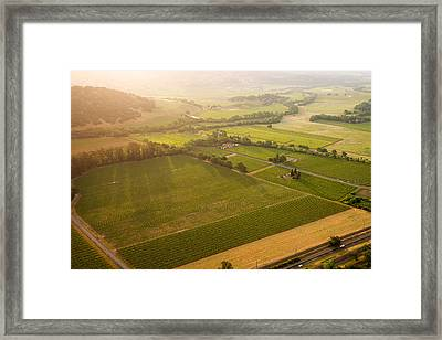 Napa Valley Sunrise Framed Print by Steve Gadomski