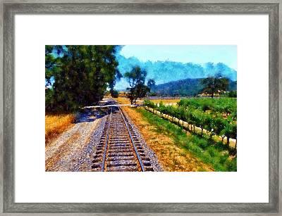 Napa Valley Tracks Framed Print by Kaylee Mason