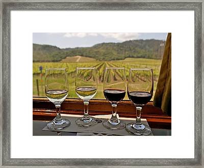 Napa Valley Wine Train Delights Framed Print by Michele Myers