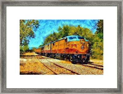 Napa Valley Wine Train Framed Print by Kaylee Mason
