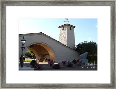 Napa Valley Winery . 7d9029 Framed Print by Wingsdomain Art and Photography
