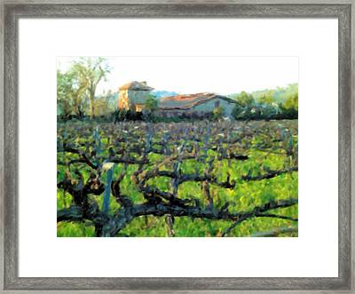 Napa Valley Winery In Winter Framed Print