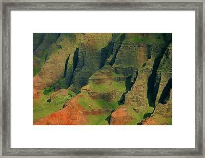 Napail Coast Cliffs Framed Print by Stephen  Vecchiotti