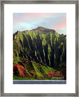 Framed Print featuring the photograph Napali Coast On Kauai  by Joseph J Stevens