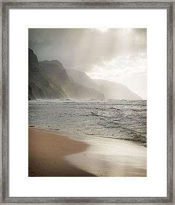Napali Sun Framed Print by Jen Morrison