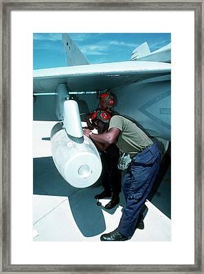 Napalm Bomber Framed Print