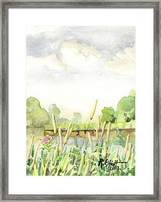 Napanee River West Framed Print