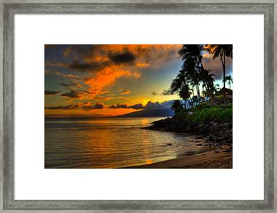 Napili Sunset Framed Print by Kelly Wade
