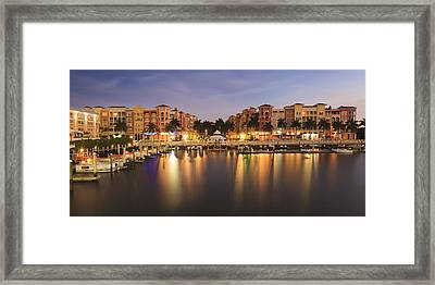 Naples Bay Framed Print by Mike Lang