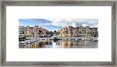 Naples Bayfront Framed Print