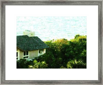 Naples Beach House Framed Print