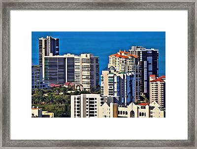 Naples Buildings  Framed Print