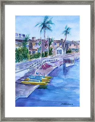 Naples Fun Framed Print