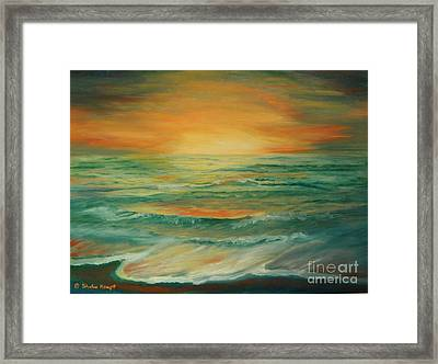 Framed Print featuring the painting Naples Mystical Sunset by Shelia Kempf