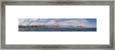 Naples Panorama Framed Print by Chris Cameron