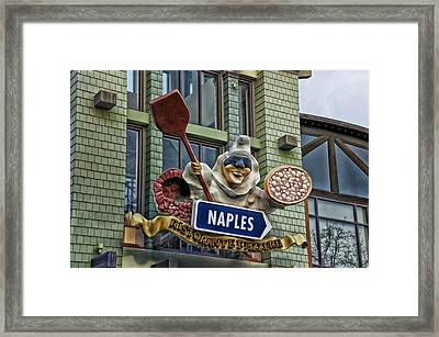 Naples Pizzeria Signage Downtown Disneyland Framed Print by Thomas Woolworth