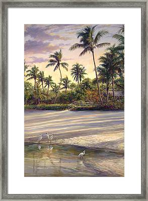 Naples Sunrise Framed Print by Laurie Hein