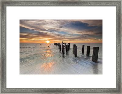 Naples Sunset Framed Print by Mike Lang