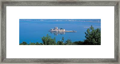 Naplioon Burdzi Island Greece Framed Print by Panoramic Images