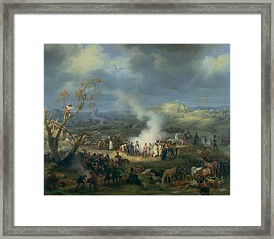 Napoleon 1769-1821 Visiting A Bivouac On The Eve Of The Battle Of Austerlitz, 1st December 1805 Framed Print by Louis Lejeune