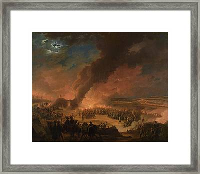 Napoleon 1769-1821 Visiting The Bivouacs On The Eve Of The Battle Of Austerlitz, 1st December 1805 Framed Print by Baron Louis Albert Bacler d'Albe