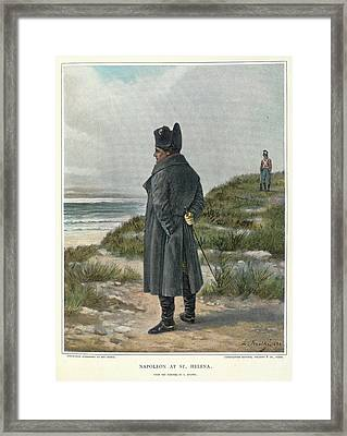 Napoleon At St. Helena Framed Print by British Library