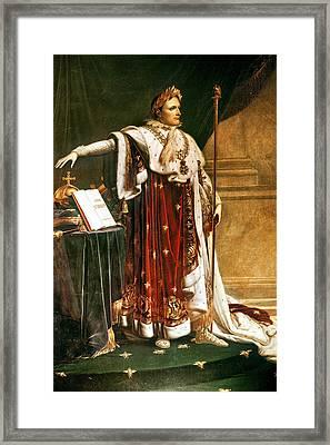 Napoleon Bonaparte In Coronation Robes Framed Print