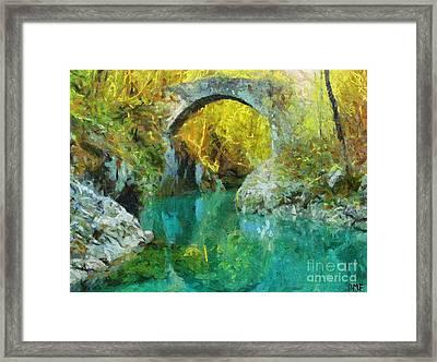 Napoleon Bridge Across The River Nadiza Framed Print by Dragica  Micki Fortuna