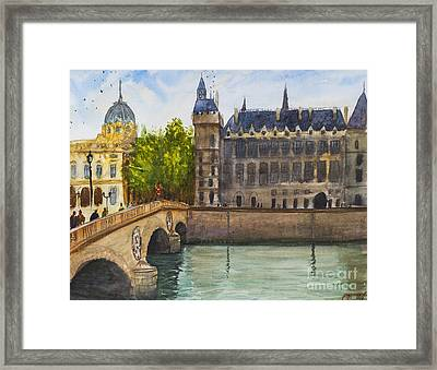 Napoleon Bridge Paris Framed Print by Lior Ohayon