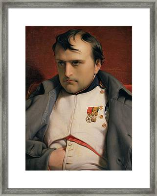 Napoleon In Fontainebleau Framed Print by Hippolyte Delaroche