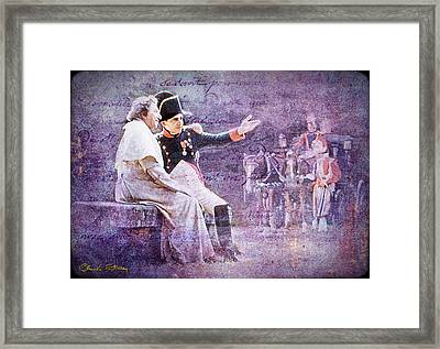 Napoleon With The Pope Framed Print