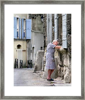 Framed Print featuring the photograph Naptime In Arles. France by Jennie Breeze