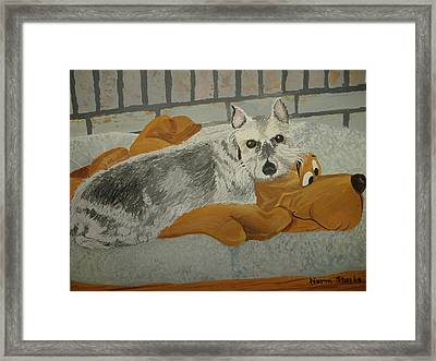 Naptime With My Buddy Framed Print