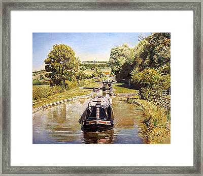 Napton Top Lock, 2008 Oil On Canvas Framed Print