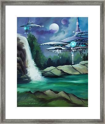 Narada City  Framed Print by James Christopher Hill