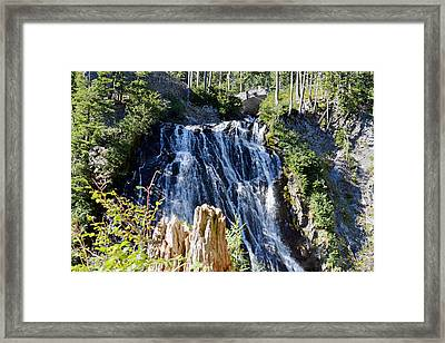 Framed Print featuring the photograph Narada Falls by Anthony Baatz