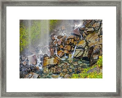 Narada Falls Mount Rainier National Park Framed Print by Bob Noble Photography