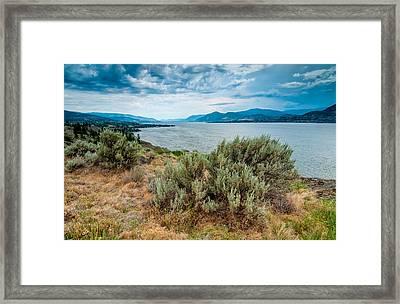 Naramatas Okanagan Lake Framed Print by James Wheeler