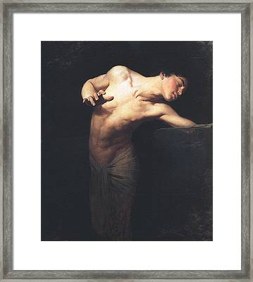 Narcissus  Framed Print by Gyula Benczur