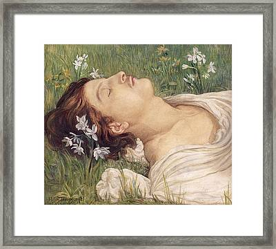Narcissus Framed Print by Helen Thornycroft